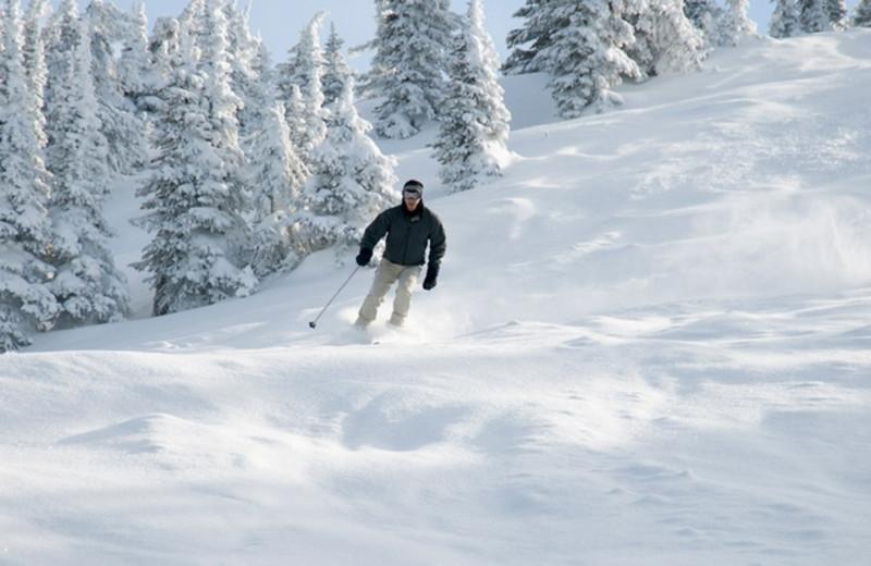 Skiing at Aston Lakeland Village.