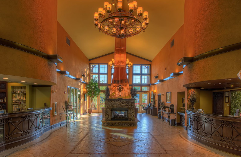 Lobby at RiverStone Resort & Spa.