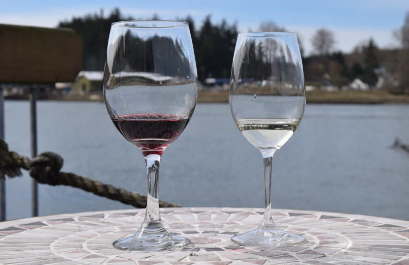 We offer complimentary wine tasting next door at Hellam's Winery.
