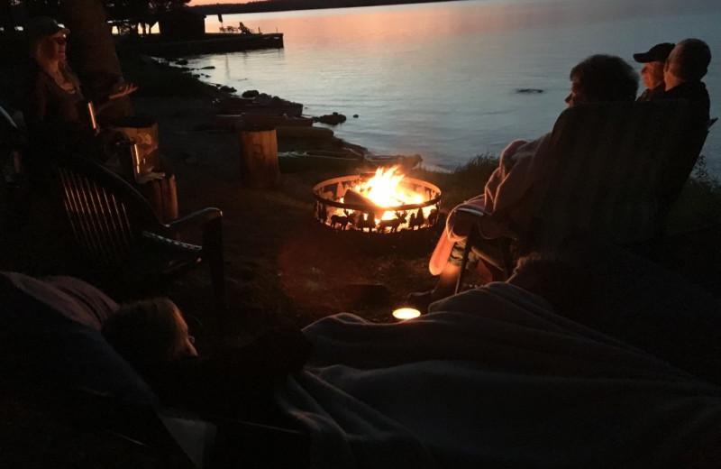 Bonfire at Krueger's Harmony Beach Resort.