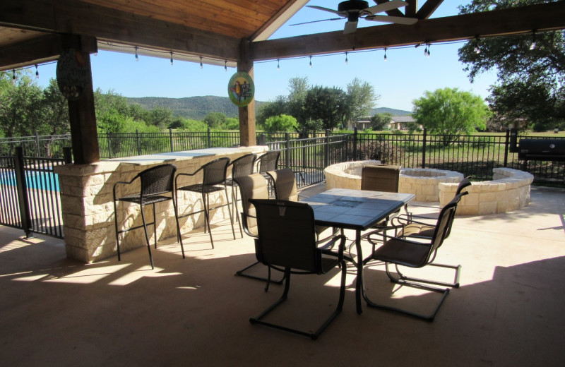 Rental patio at Frio River Vacation Rentals.