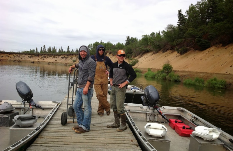 Fishing at Alagnak Lodge.