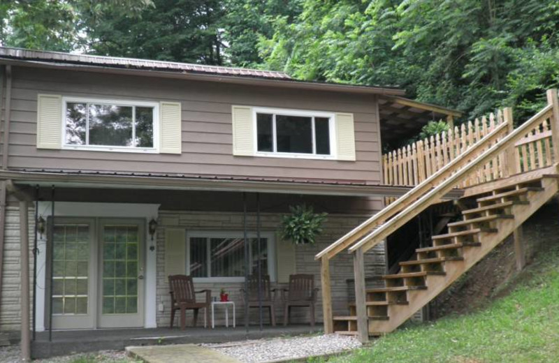Rental exterior at Happy Mountain Lodging.