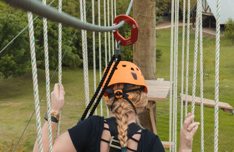 Rope course at The Retreat at Balcones Springs.