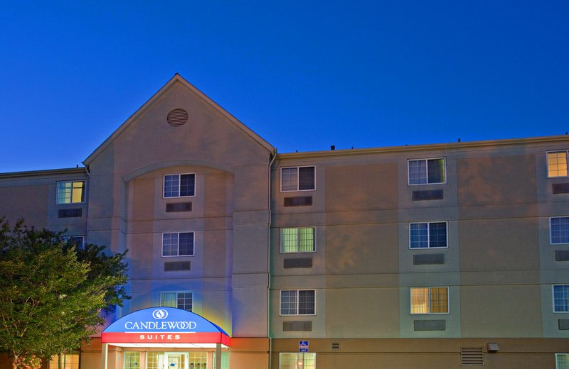Exterior view of Candlewood Suites North Orange County.