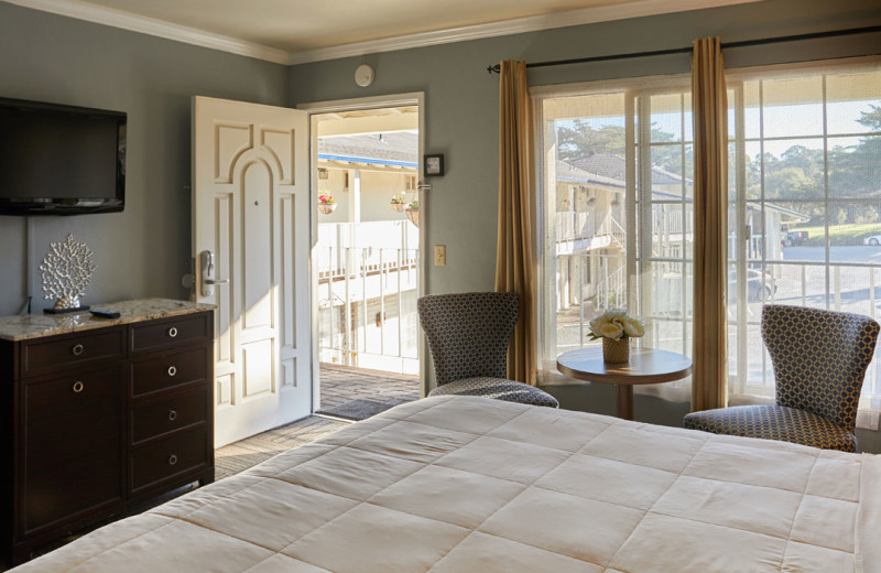 Guest room at Inn by the Bay Monterey.
