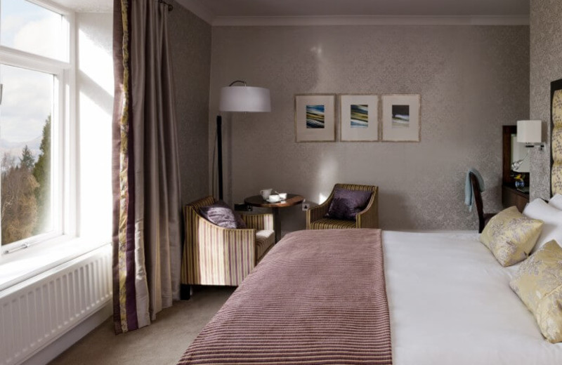 Guest room at Linthwaite House Hotel.