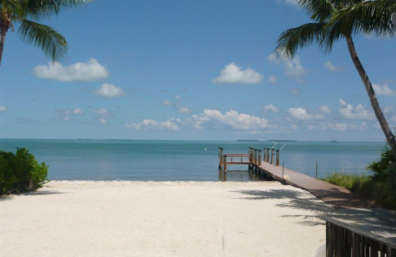 Rental beach at Keys Holiday Rentals, Inc.