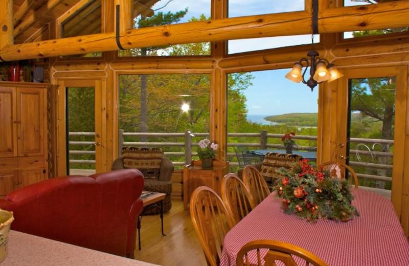 Vacation rental dining room at Bay Breeze Resort.