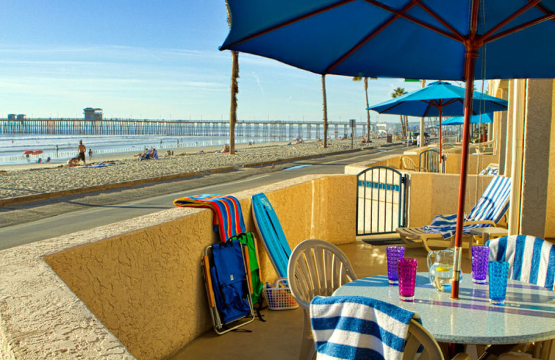 Patio of a Studio Unit at the Southern California Beach Club