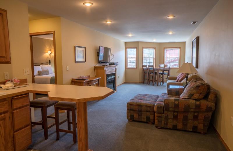 Guest room at Obertal Inn & Vacation Rentals.