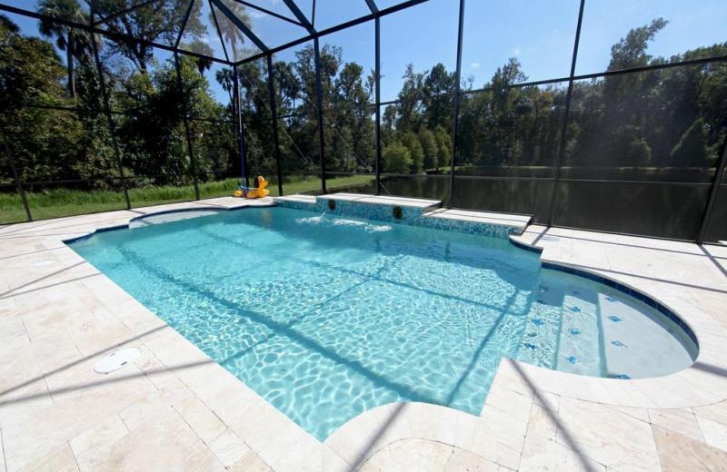 Rental pool at Orlando Sunshine Villas.