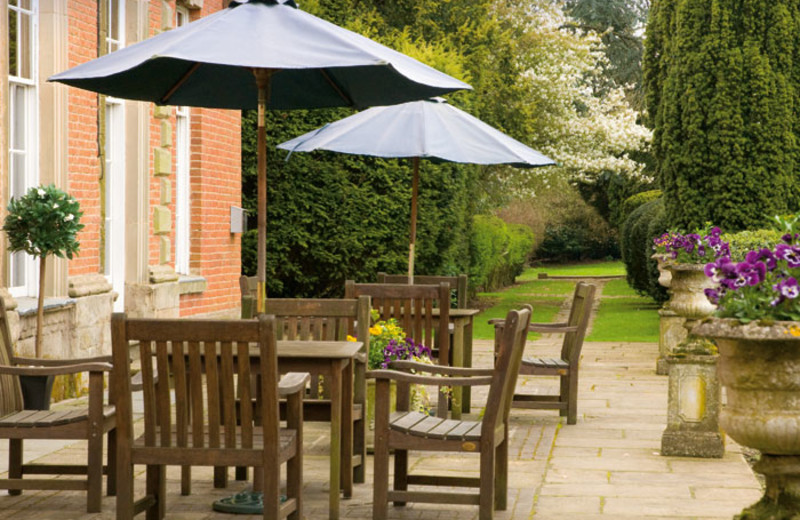 Patio at Ansty Hall Hotel.