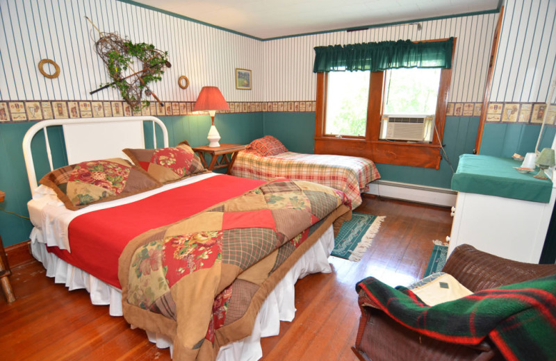 Guest room at Barker Lake Lodge.