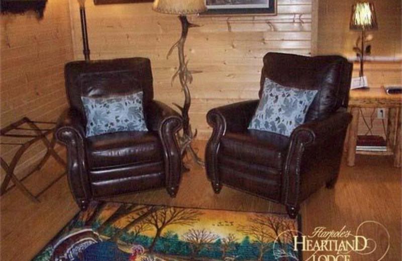 Suite sitting area at Harpole's Heartland Lodge.