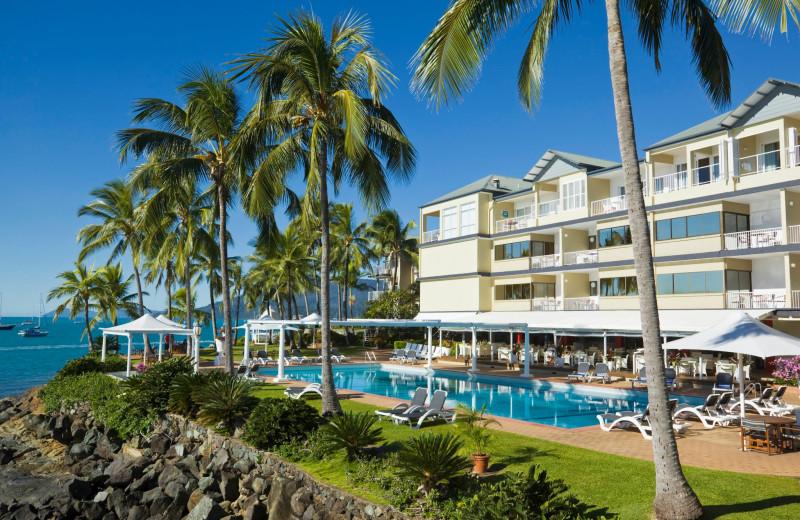 Outdoor pool at Coral Sea Resort.