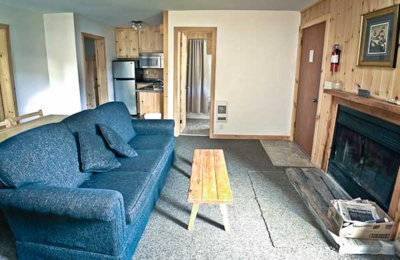 Cabin living room at Lumina Resort.