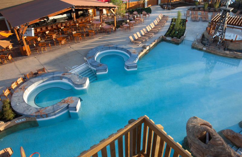 Outdoor pool at Gaylord Texan Hotel & Convention Center.