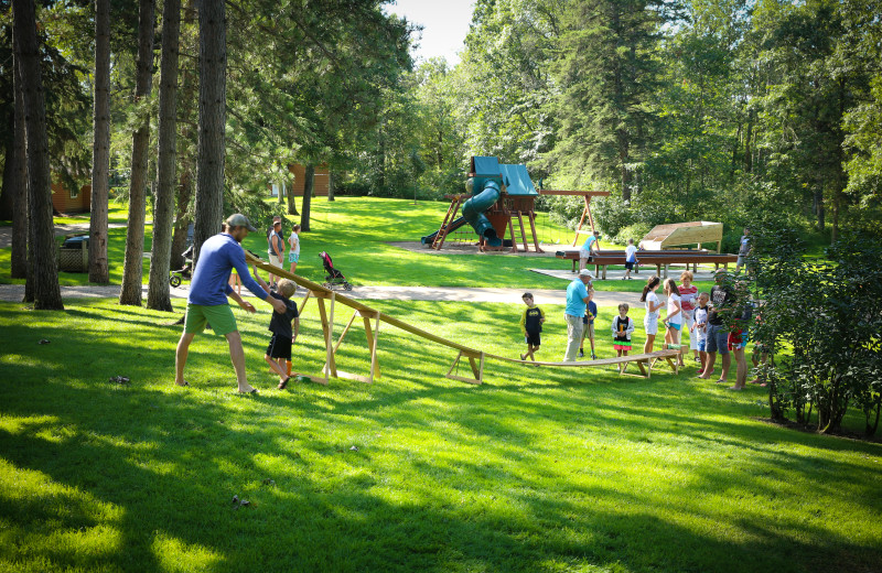 Half Moon Trail Resort offers a full line-up of activities for families and children, shown here is a derby car race.