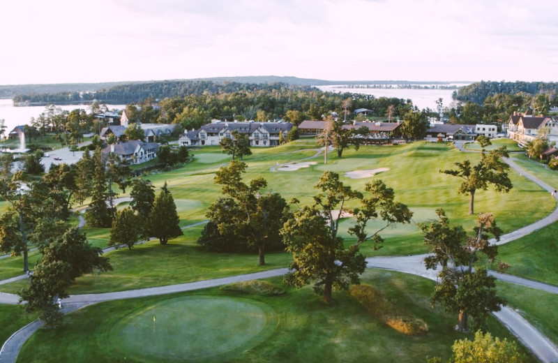 Golf course at Madden's on Gull Lake.