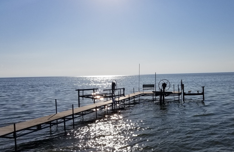 Rental dock at Door County Vacancies.