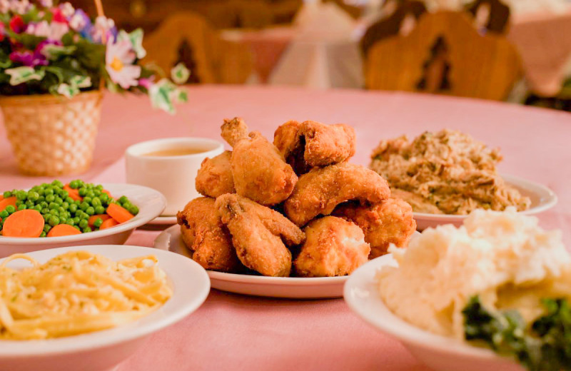 Dining at Bavarian Inn of Frankenmuth.