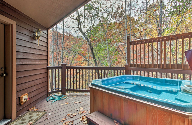Rental hot tub at Eden Crest Vacation Rentals, Inc.