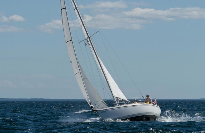 Sailing at Addison Choate.
