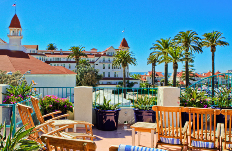 Sundeck with View of Ocean and Hotel Del Coronado at the Coronado Beach Resort