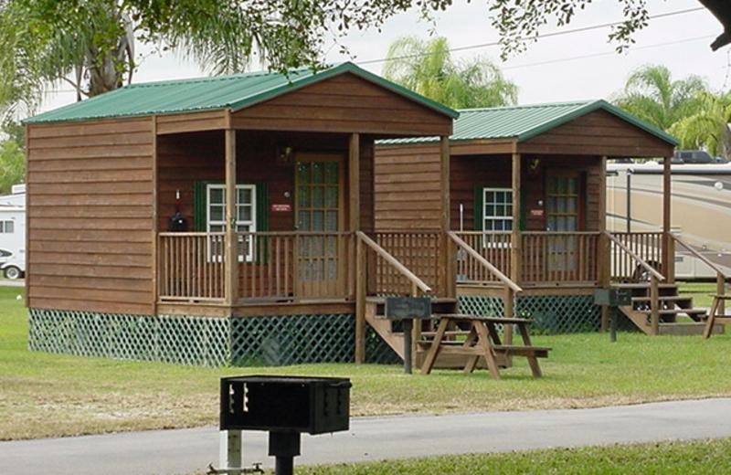 Cabin exterior at Miami Everglades.