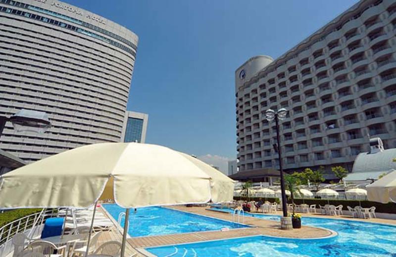 Outdoor pool at Portopia Hotel.