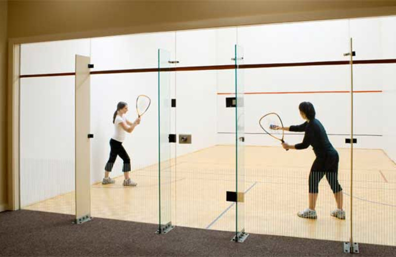 Racquetball courts at Steele Hill Resort.