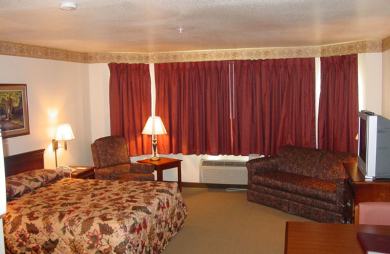 Guest room at Home Towne Suites.
