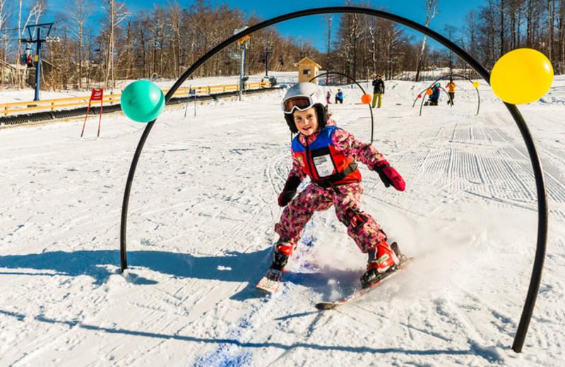 Ski at Smugglers' Notch Resort.