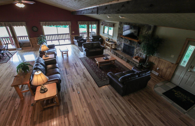 Chalet living room at Old Man's Cave Chalets.