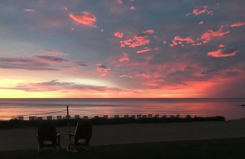Sunset at Glidden Lodge Beach Resort.