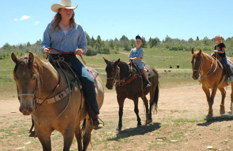 Horseback riding at Zion Ponderosa Ranch.
