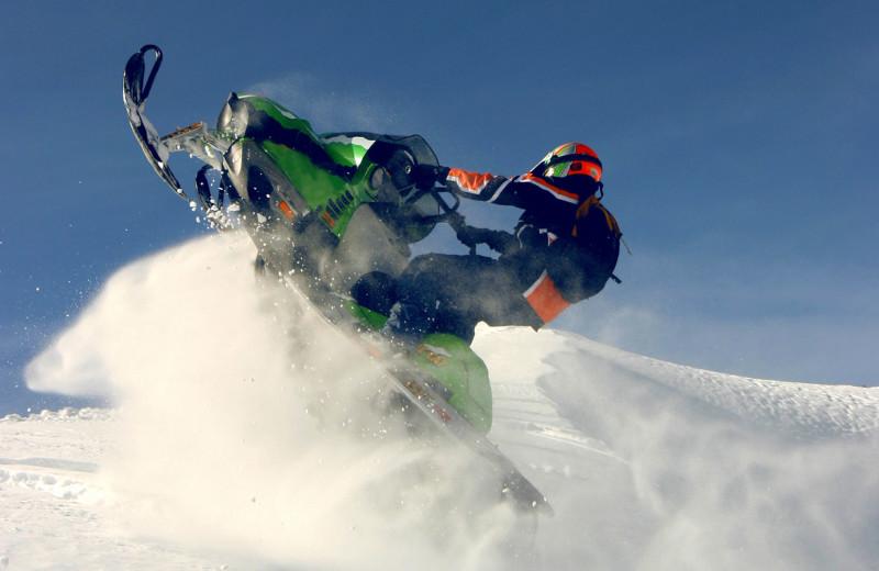 Snowmobiling at Jackson Hole Lodge.