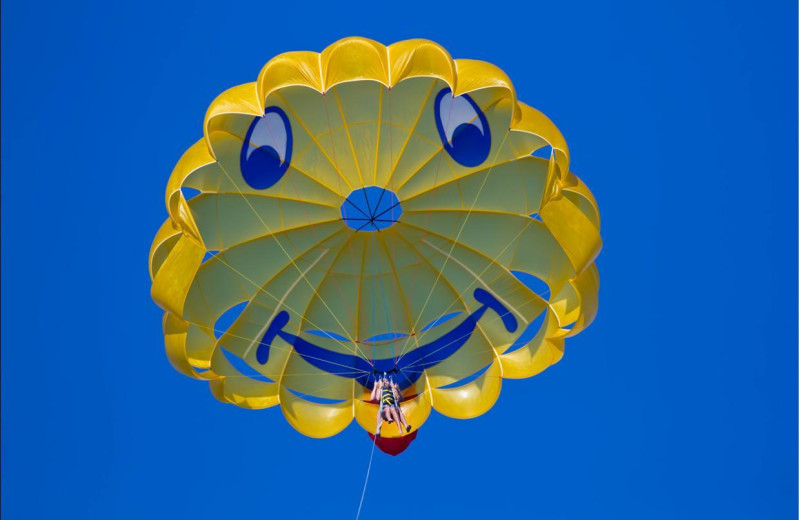 Parasailing at Sirata Beach Resort.
