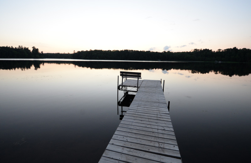 Dock at Hanging Horn Lakeside Resort.