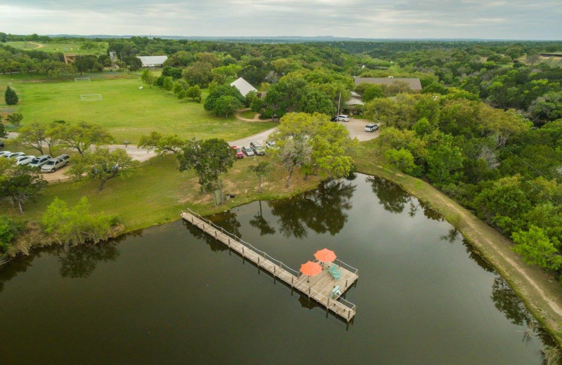 Aerial view of The Retreat at Balcones Springs.