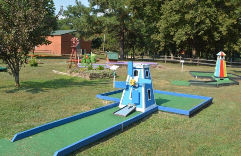Mini golf at MarVal Resort.