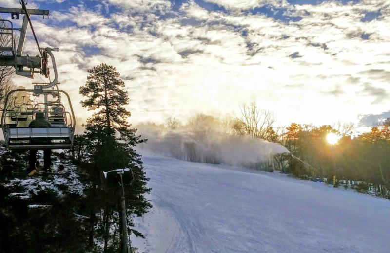 Ski lift at Massanutten Resort.