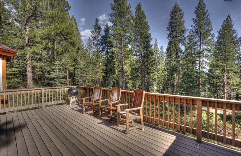 Spacious porches with great views at Tahoe Signature Properties