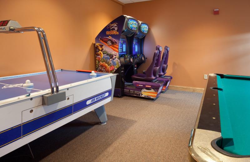 Game room at Holiday Inn Club Vacations Smoky Mountain Resort.