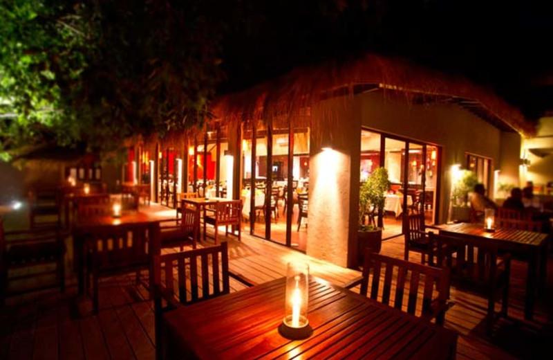 Dining at Yala Safari Beach Hotel.