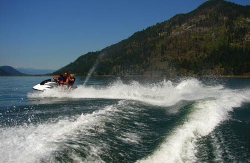 Having fun on the water at The Lodge at Sandpoint.