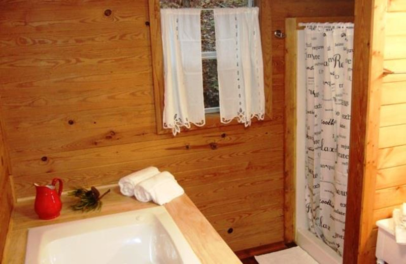 Cabin bathroom at Paradise Hills Resort and Spa.