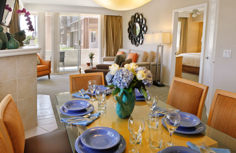 Dining Area of a Two Bedroom Unit at the Carlsbad Seapointe Resort