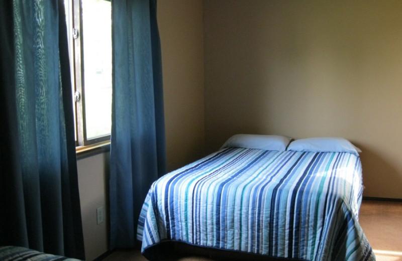 Lodge bedroom at Betsy Ross Resort.